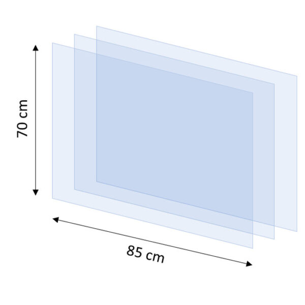Replacement protection screens - 850mm